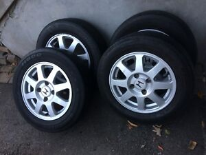 4 summer tires with mag 195/65/15 (4x114.3)