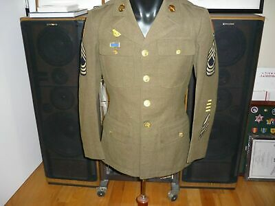 U.S.ARMY NCO DRESS TUNIC WW2- LOOKS GREAT -SEE STORE SALE  HUGE WW2 SELECTION