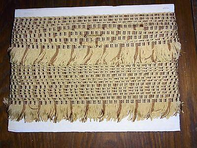(0,80€/m) beige/braun Borte Fransen, Höhe ca. 4,5cm 25m auf einer Pappe