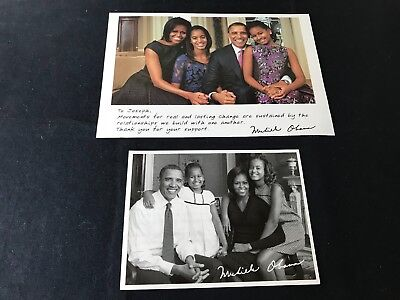 2 Thank You For Your Support Photo Cards from Michelle Obama