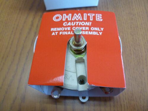 NEW Ohmite Rheostat RKS25R 2.0 Max Amp Power Potentiometer 100W 79.4MM