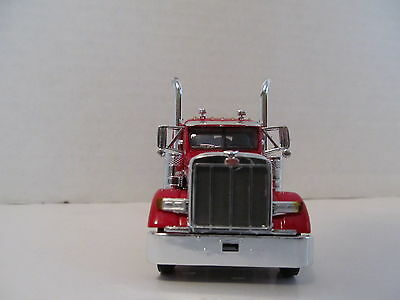 DCP 1/64 SCALE 379 PETERBILT (DAY CAB OPT) RED/BLACK WITH WHITE STRIPE  3