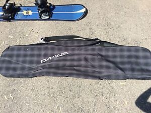 Women's Ride snowboard, boots and bag