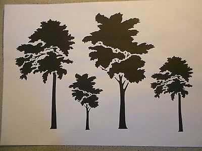 Schablone Bäume2  auf A4