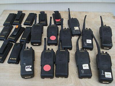 Lot Of 11 Maxon Sp-310 320 330 Uhf Portable 2-way Radios Wbatteries Sp320 Sp310