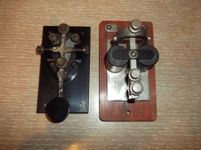 Antique Telegraph Key And Sounder - Estate Find