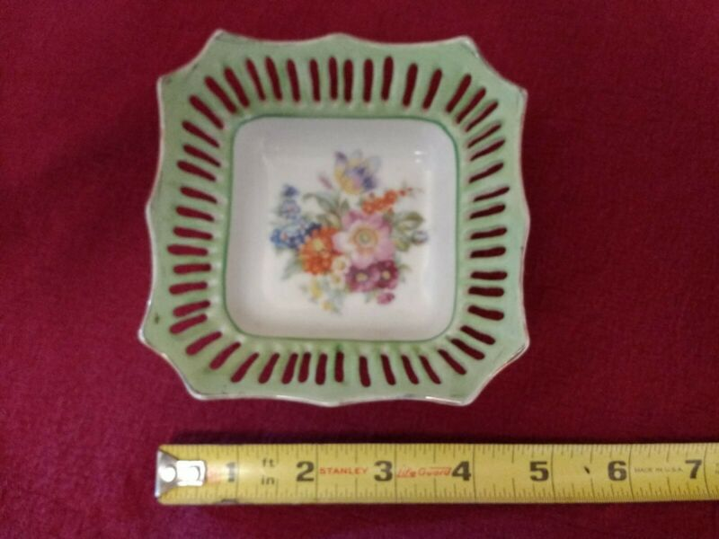 VINTAGE RETICULATED SQUARE DISH - MADE IN JAPAN