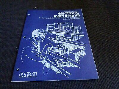 1974 Rca Test Equipment Catalog Oscilloscopes Color-bar Rf Generators Testers