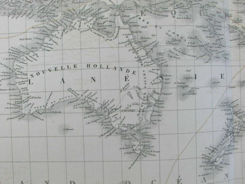 Oceania Australia New Holland 1827 Brue fine large folio old map Tooley #251