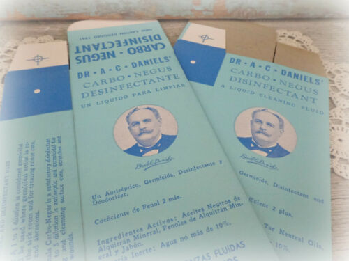2 vintage veterinary boxes decorative Dr AC Daniels EMPTY