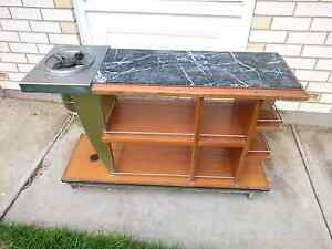 Nice and fancy portable marble BBQ cooking table. South Plympton Marion Area Preview