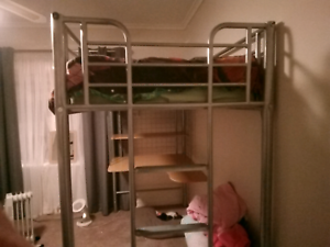 Metal Loft Bunk Bed With Desk Attached Beds Gumtree Australia