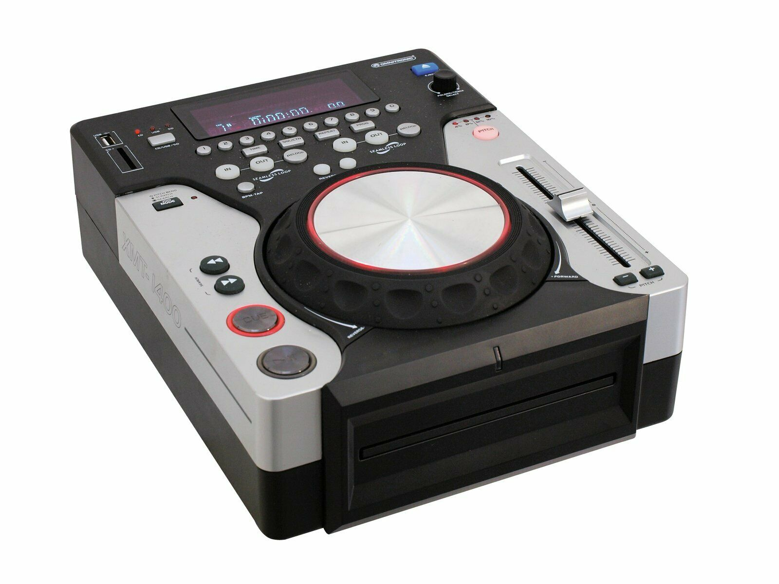 OMNITRONIC XMT-1400 Tabletop-CD-Player DJ-Player für CD, USB und SD