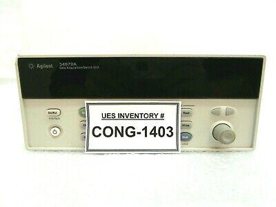Agilent 34970a Data Acquisition Switch Unit Base No Bezels Cards Handle Used