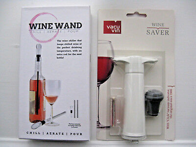 Vacu Vin Chiller (WINE SAVER AND WINE CHILLER/AERATER – VACU VIN AND WINE WAND NEW )