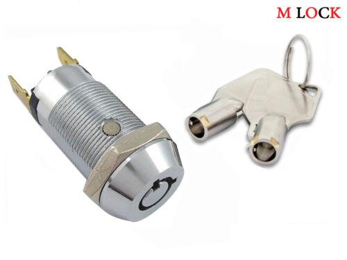 LOT OF 100 Electronic Key Switch Lock Off/On Lock Switch tubular KEYED A 2304-2