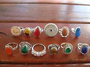 'FREE POSTAGE' SOLID STERLING SILVER GEMSTONES RINGS FOR SALE. Thornlie Gosnells Area Preview