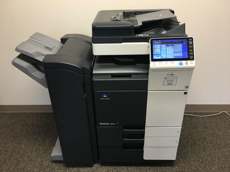 Konica Minolta Bizhub C284e Color Copier Printer Scanner Network Low 87k Total