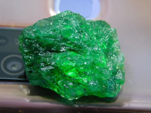 26.00Ct + Translucent Natural Colombian Emerald Green Loose Mineral Rough 1pcs H