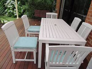 Out Door Dining Table and Chairs (Almost NEW) Pymble Ku-ring-gai Area Preview