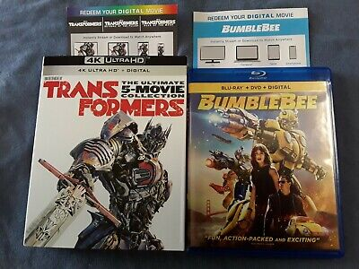 Transformers Ultimate 5 Movie Collection 4k, Bumblebee Blu-ray  *Please Read*