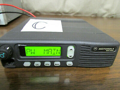 C - Motorola Mcs 2000 Mobile Radio 800mhz Uhf 250 Channels M01hx812w As-is