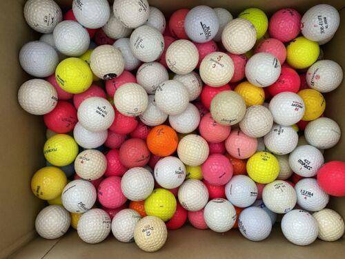 147 gebrauchte Golfbälle - Lakeballs - diverse Farben und Marken