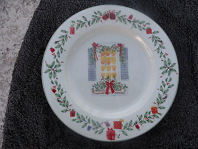 - Lenox Holiday Inspirations & Illustrations Window & Bow Off White Salad Plate