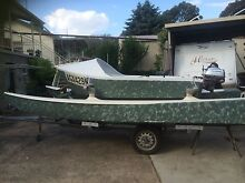 Tri hull fishing boat and trailer Queanbeyan Queanbeyan Area Preview