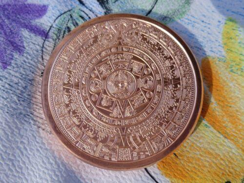 Imperfect 5 oz. Aztec Calendar .999 fine copper rounds