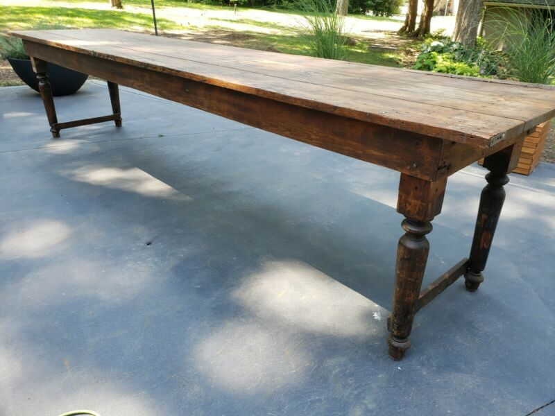 12 Foot Antique Pennsylvania Farm Table