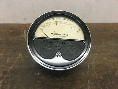 Sensitive Research Round Style Analog Panel Meter Dc Ammeters 0-10 Microamperes