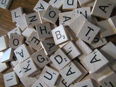 99 Original Wood Scrabble Tiles Crafts Boardgames Replacement Scrapbooking