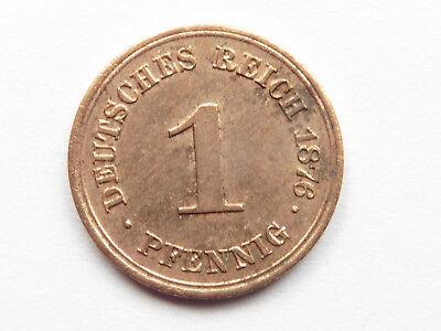 H65    KAISERREICH 1 Pfennig 1876 A