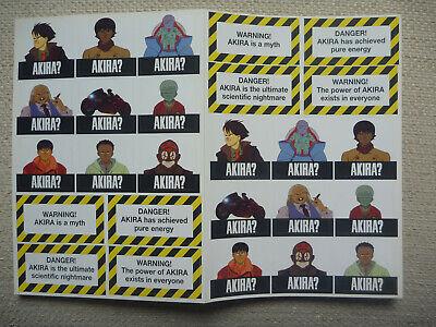 Manga Japanese Anime Film 'Akira' Vintage Sticker Sheet Japanese Printed MINT