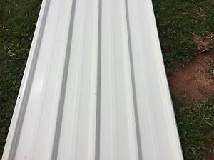30 sheets of 12 feet white steel!!! **New**