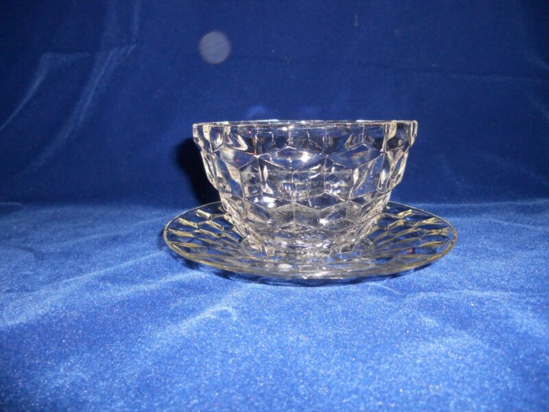 "Elegant ""Cube"" or ""American"" or ""Whitehall"" Style Mayonnaise Bowl/Underplate"