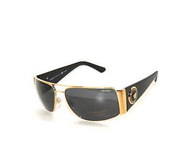 Versace 2163 100281 Gold Black Polarized  Sunglasses