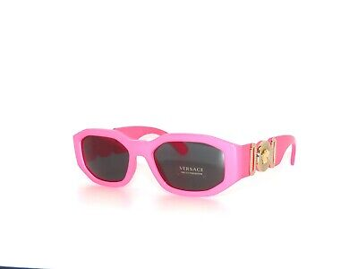 Versace 4361 5318/87 Fuxia Pink Fluo Gray  Sunglasses Unisex