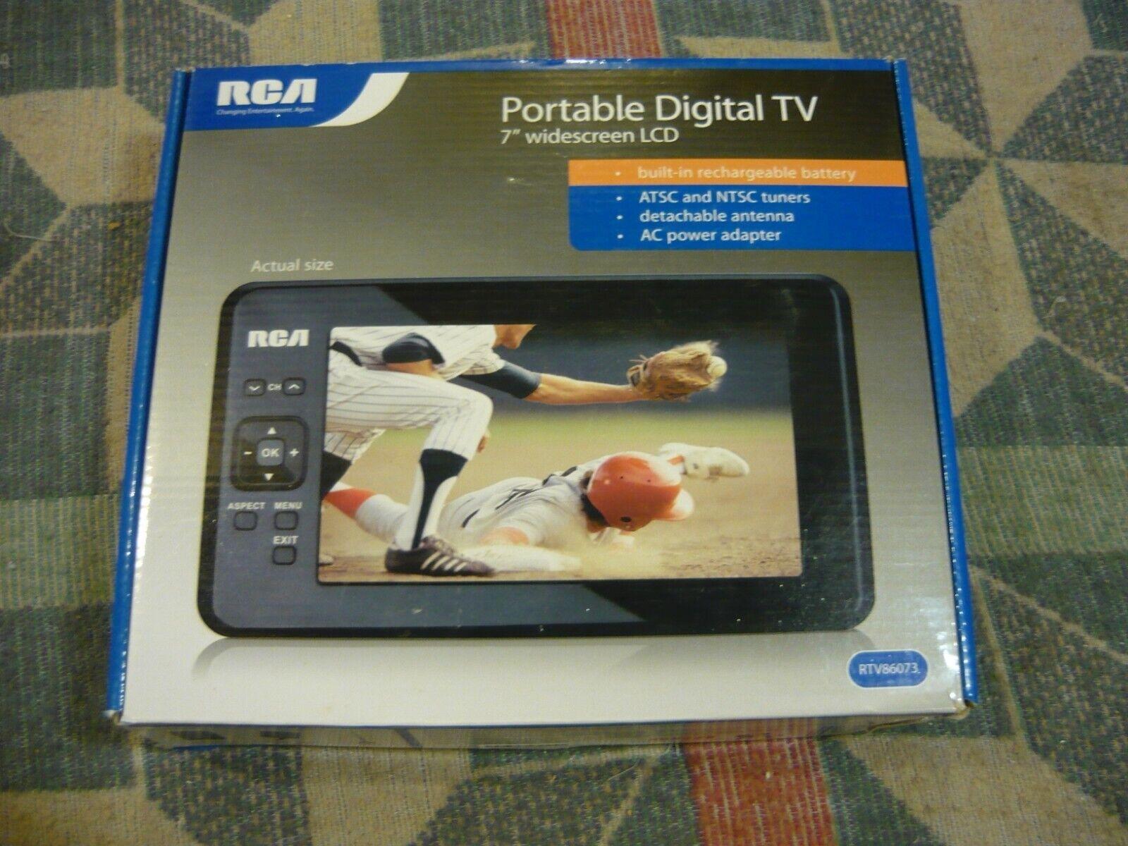 """RCA RTV86073 Portable 7"""" Portable Widescreen LCD Digital TV"""
