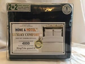 New King microfiber sheet set with 2 extra pillowcases