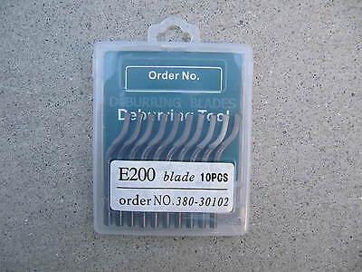 DEBURRING TOOL SET 2 BOX E200  HSS BLADES+1pc seasun METAL HANDLE