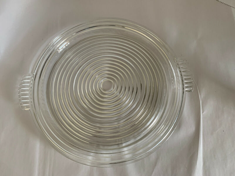 "Anchor Hocking Glass Clear Manhattan 14"" Handled Relish Platter Tray"