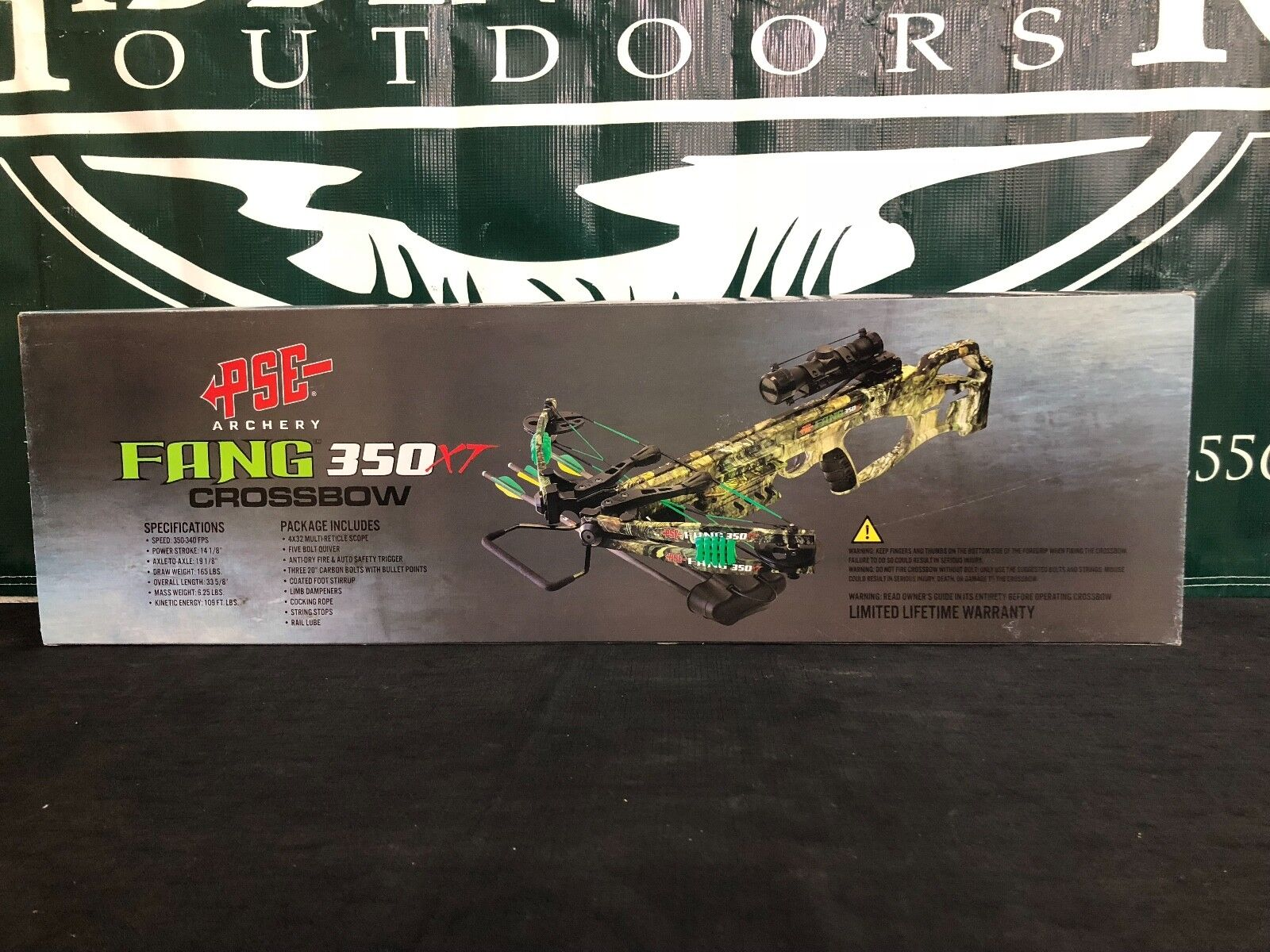 PSE Archery Fang 350 XT Crossbow Package BRAND NEW