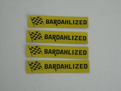 4 BARDAHL Bardahlized Original Vintage Racing Stickers