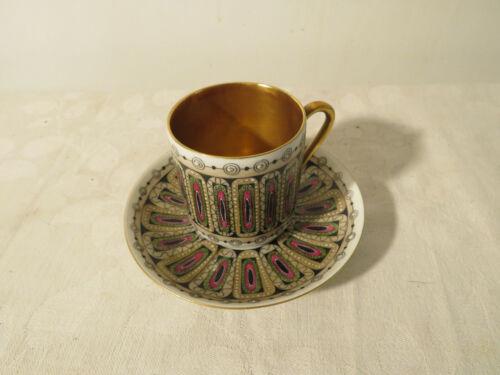 Rare Vintage Arabia Finland China ~ Sommit Komp Hellevi ~ Demitasse Cup & Saucer