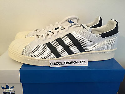 ADIDAS SUPERSTAR 80S PK UK 11 US 11.5 46 WHITE CONSORTIUM PRIMEKNIT BLACK SS80