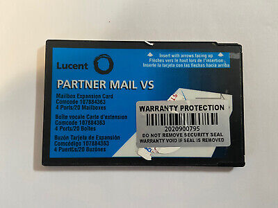 Lucent Partner Mail Vs Mailbox Expansion Card 4 Ports 20 Mailboxes 107884363