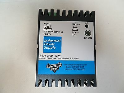 Automation Direct Ps24-050d Power Supply 100-240v Volt 50w Watt 1.20.7a Amp
