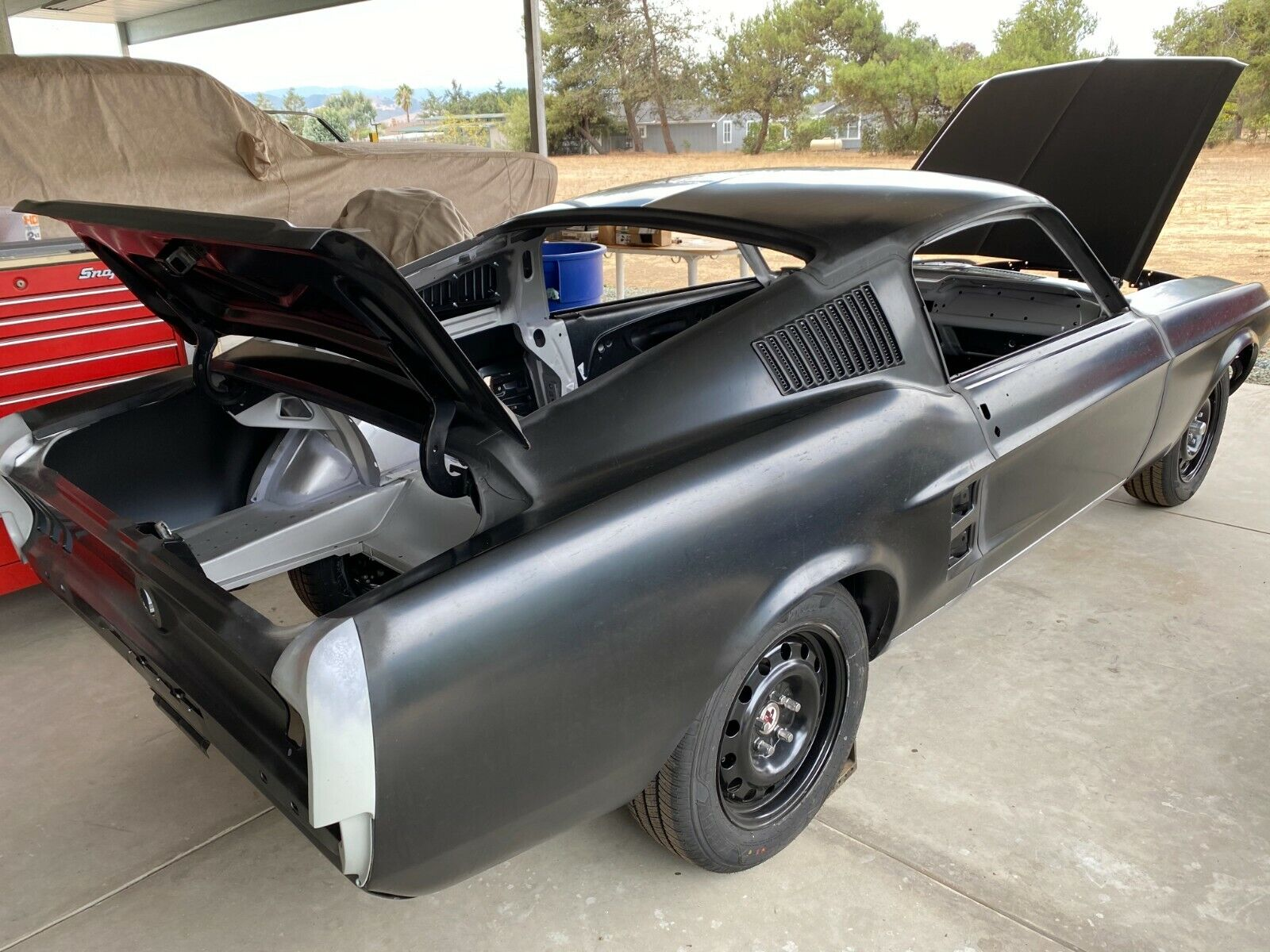 New 1967 Fastback Body Shell - All New - No Used Parts - Made in USA